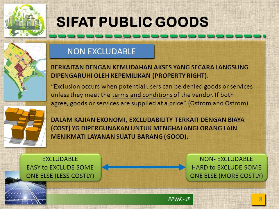 SIFAT PUBLIC GOODS NON EXCLUDABLE