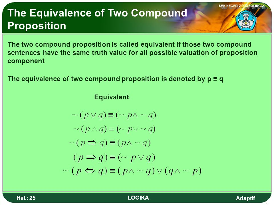 The Equivalence of Two Compound Proposition