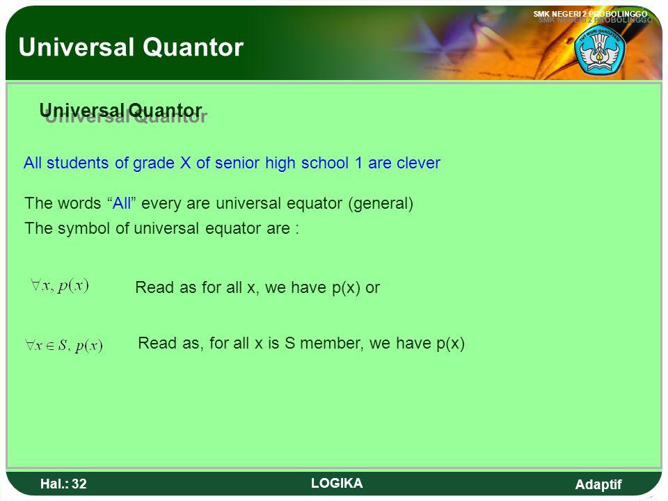 Universal Quantor Universal Quantor