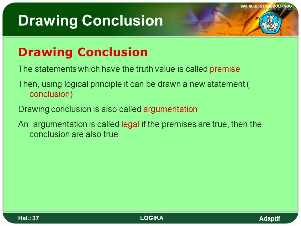 Drawing Conclusion Drawing Conclusion
