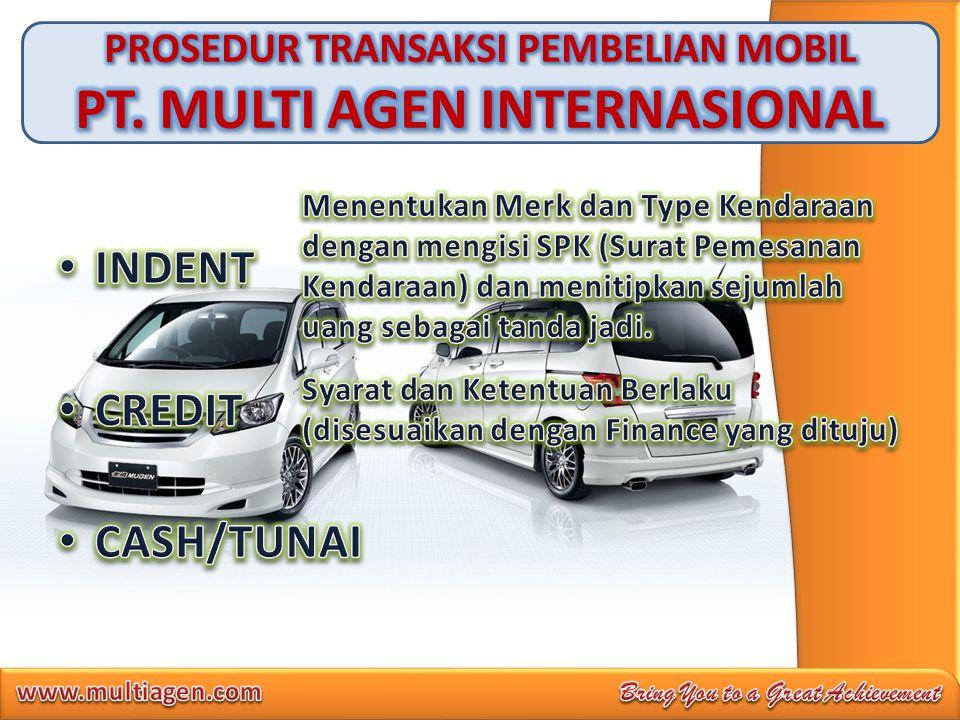 PROSEDUR TRANSAKSI PEMBELIAN MOBIL PT. MULTI AGEN INTERNASIONAL