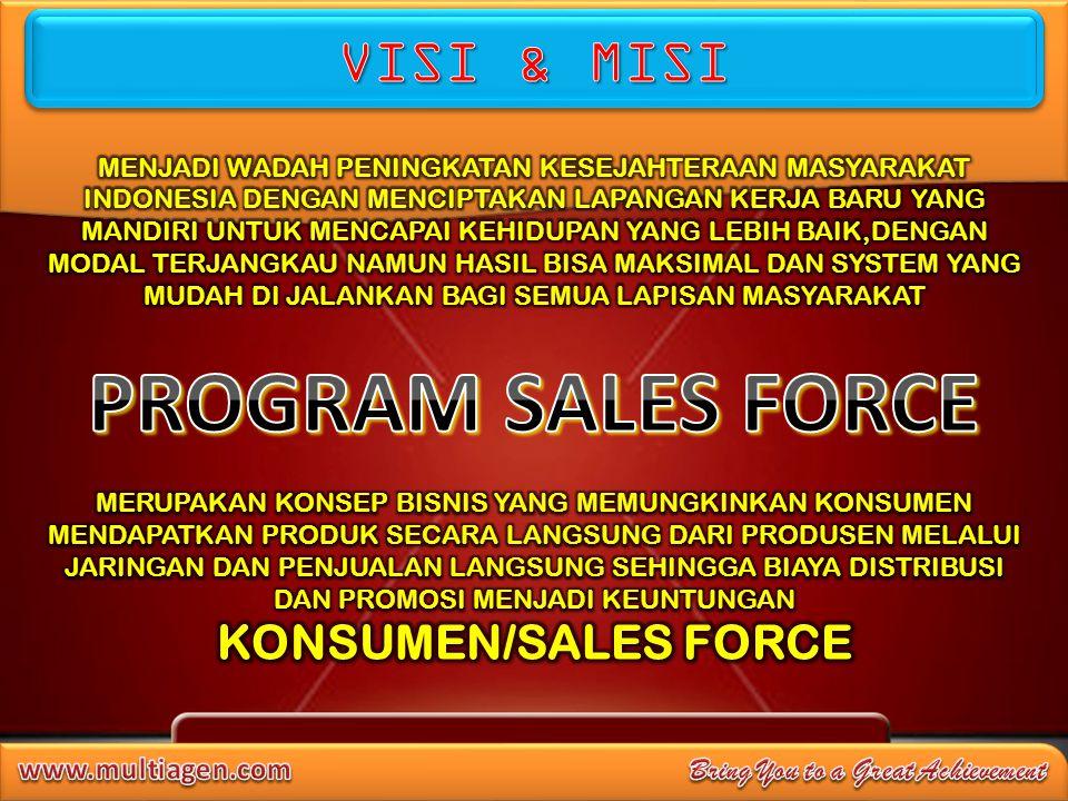 PROGRAM SALES FORCE VISI & MISI KONSUMEN/SALES FORCE