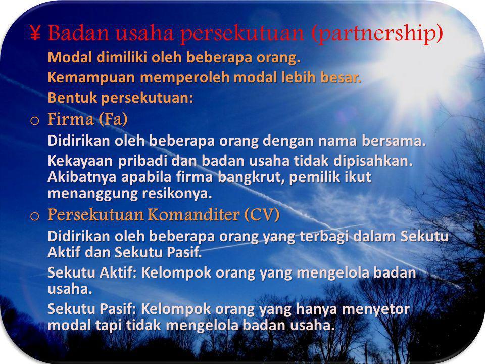 Badan usaha persekutuan (partnership)