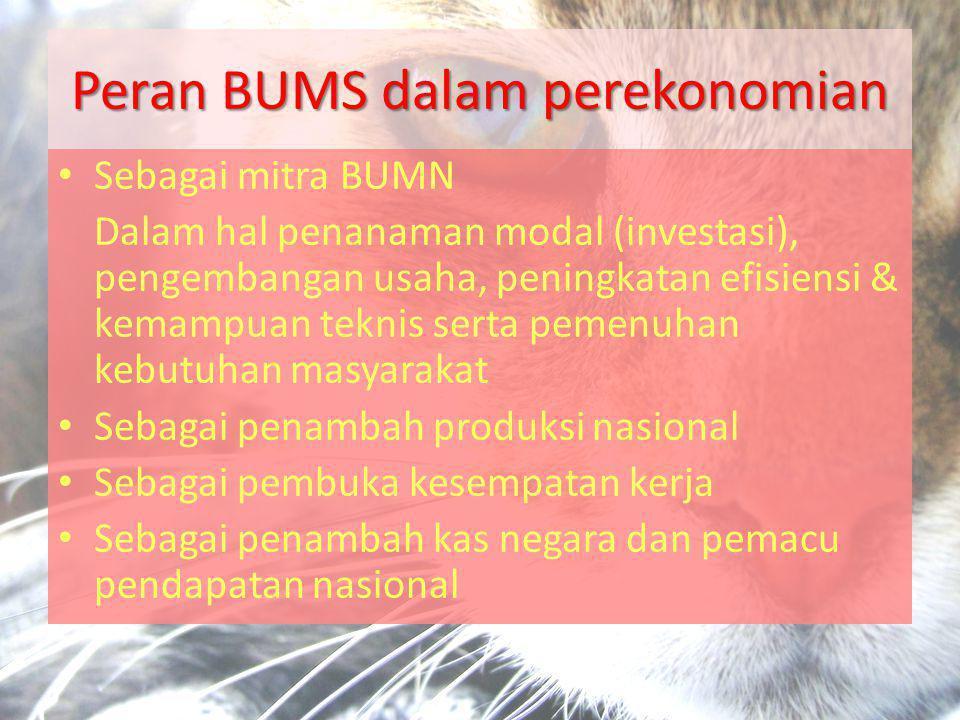 Peran BUMS dalam perekonomian