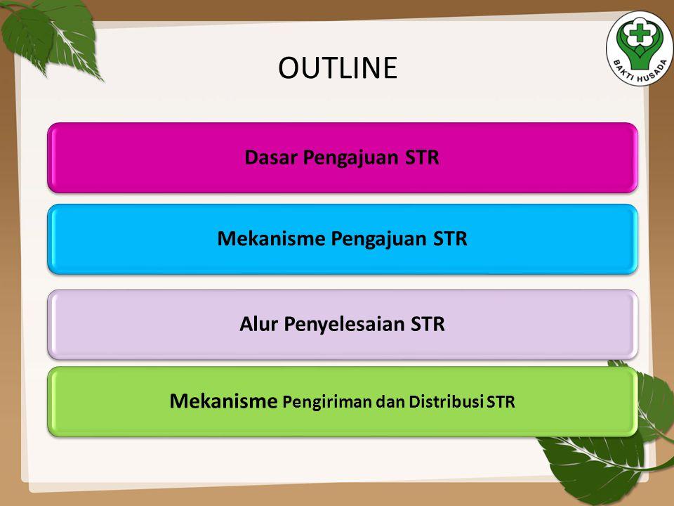 Mekanisme Pengajuan STR Mekanisme Pengiriman dan Distribusi STR