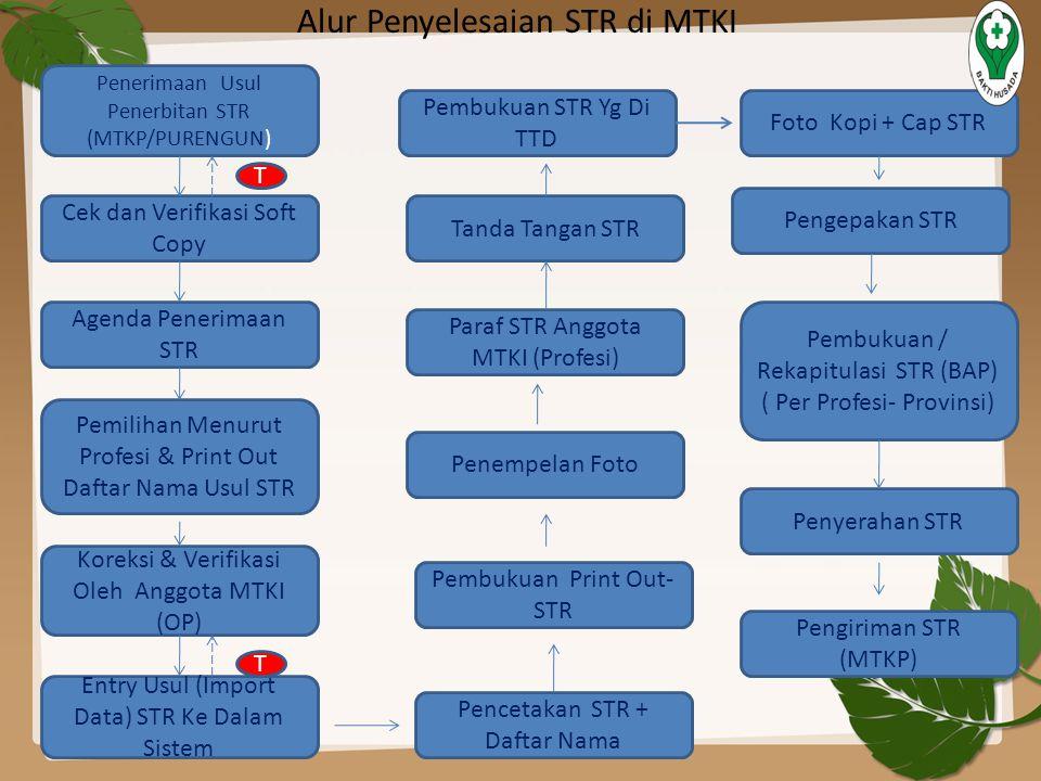Alur Penyelesaian STR di MTKI