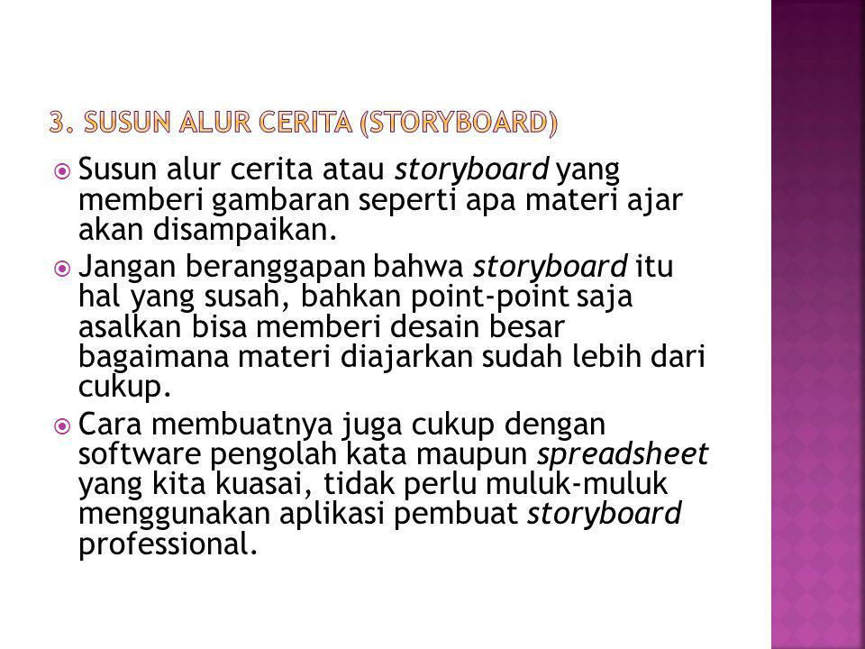 3. SUSUN ALUR CERITA (STORYBOARD)