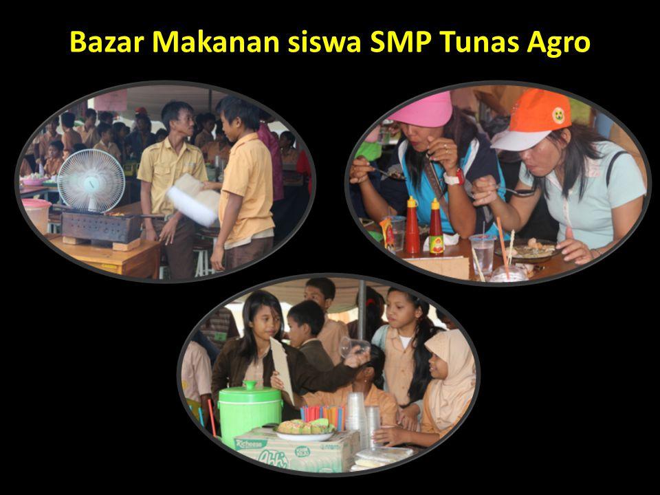 Bazar Makanan siswa SMP Tunas Agro
