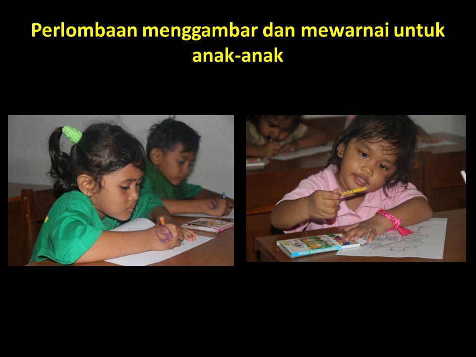 Perlombaan menggambar dan mewarnai untuk anak-anak