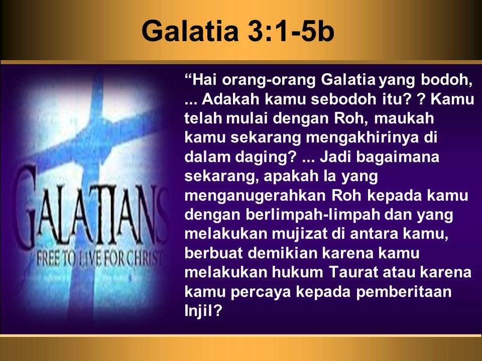 Galatia 3:1-5b