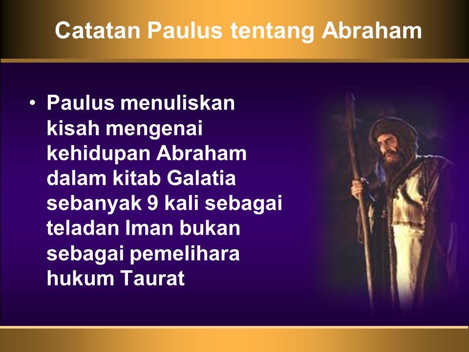 Catatan Paulus tentang Abraham