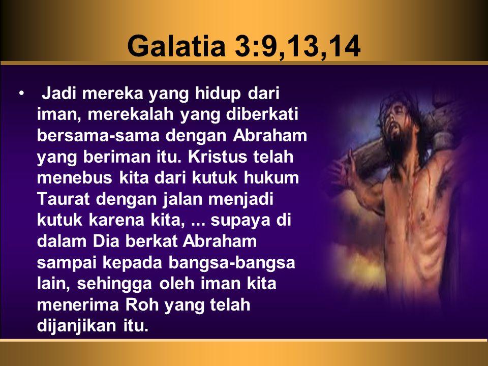 Galatia 3:9,13,14