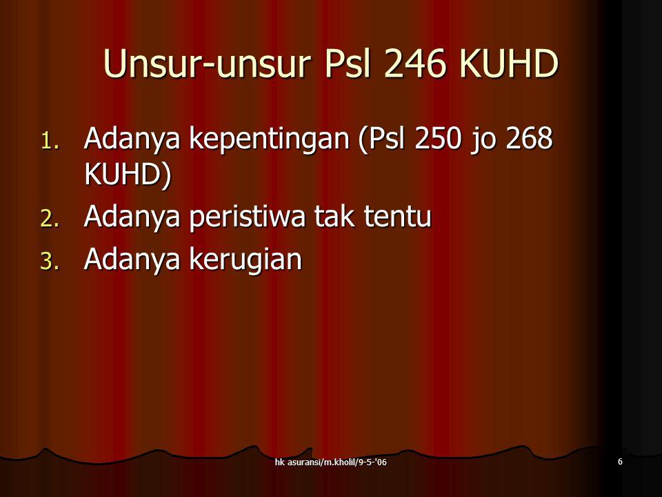 hk asuransi/m.kholil/9-5- 06