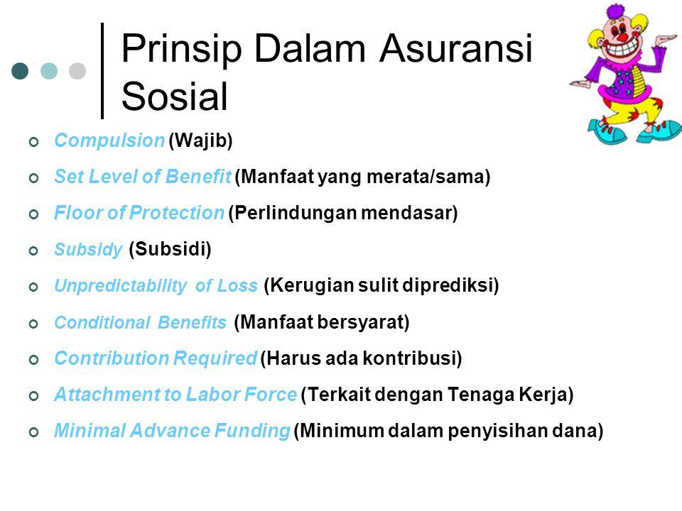Prinsip Dalam Asuransi Sosial