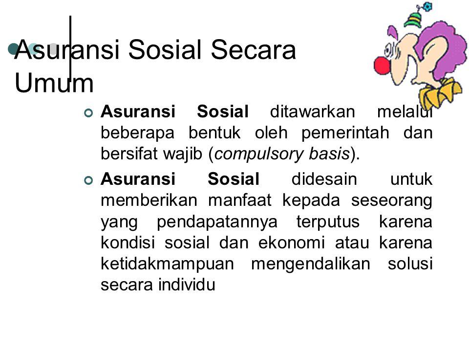 Asuransi Sosial Secara Umum