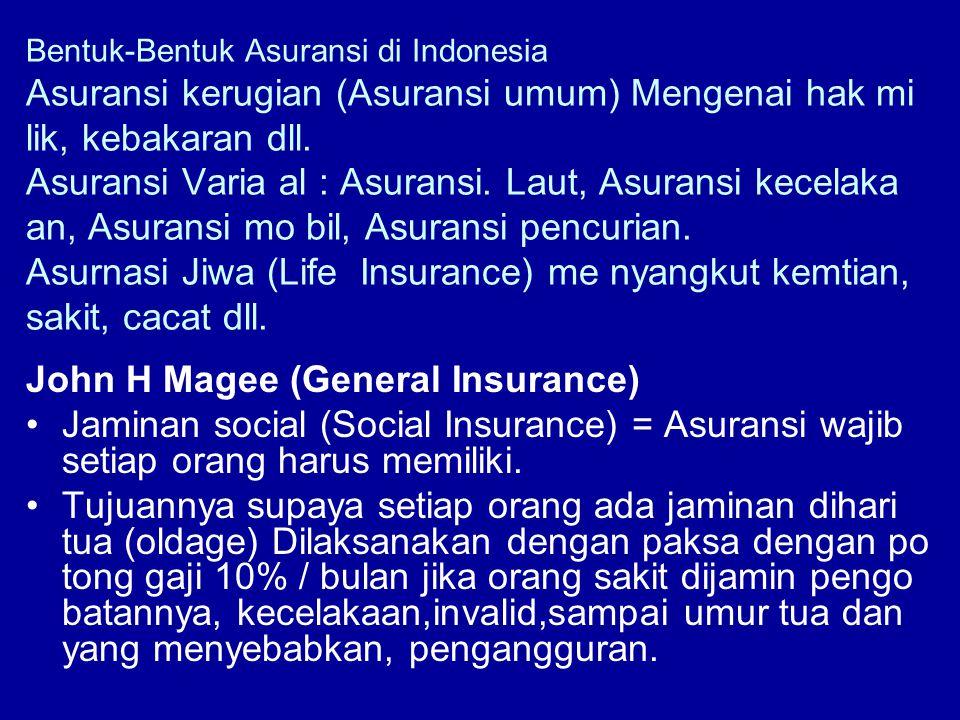 John H Magee (General Insurance)