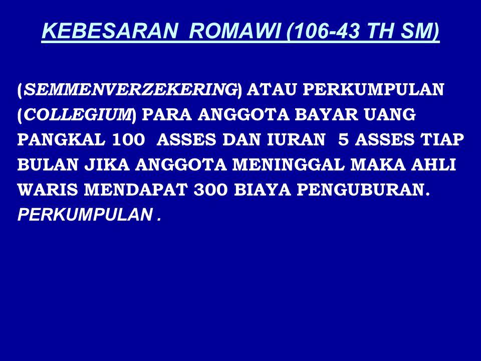 KEBESARAN ROMAWI (106-43 TH SM)
