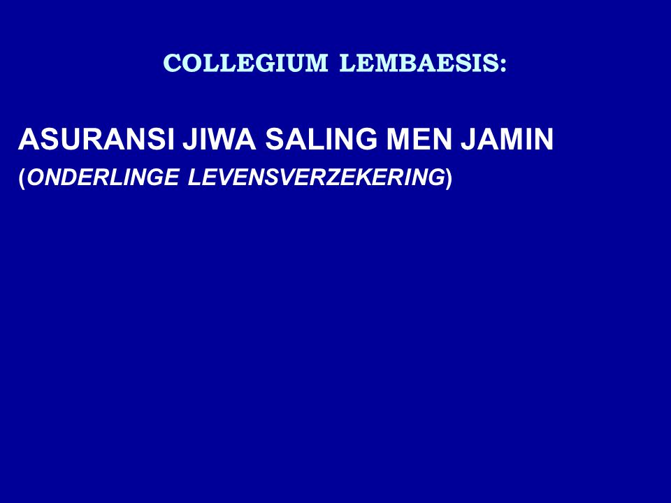 ASURANSI JIWA SALING MEN JAMIN