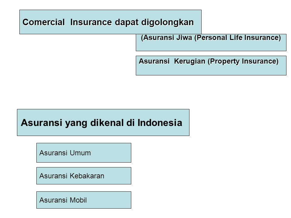 Asuransi yang dikenal di Indonesia