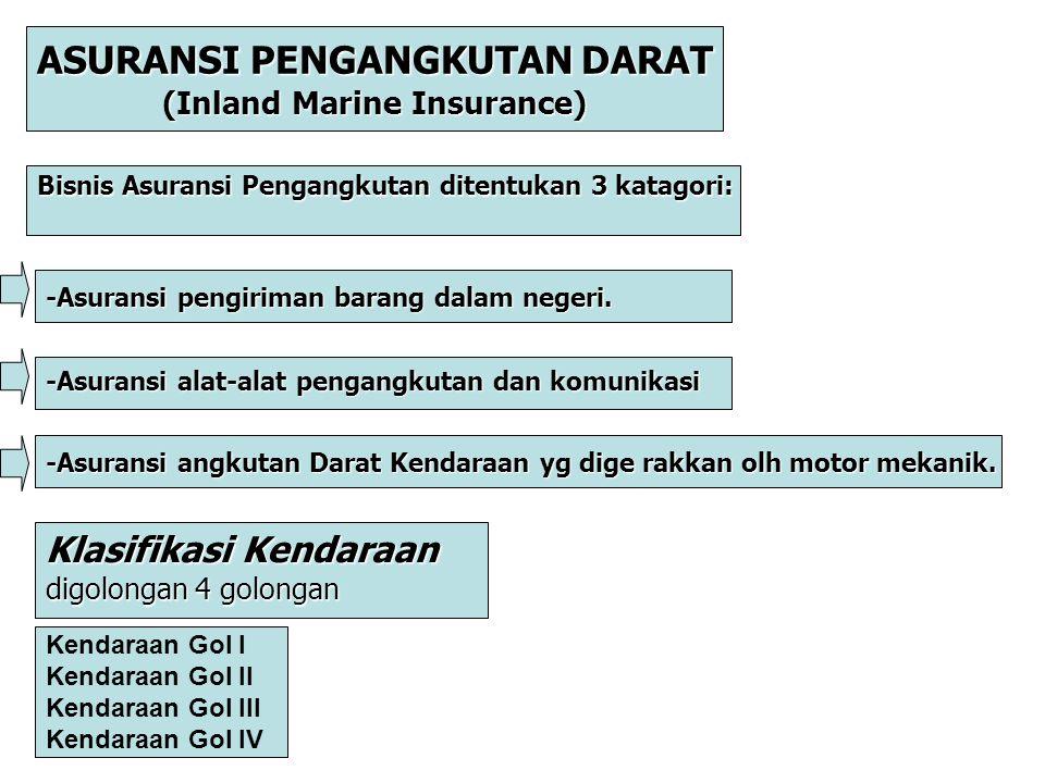 ASURANSI PENGANGKUTAN DARAT (Inland Marine Insurance)
