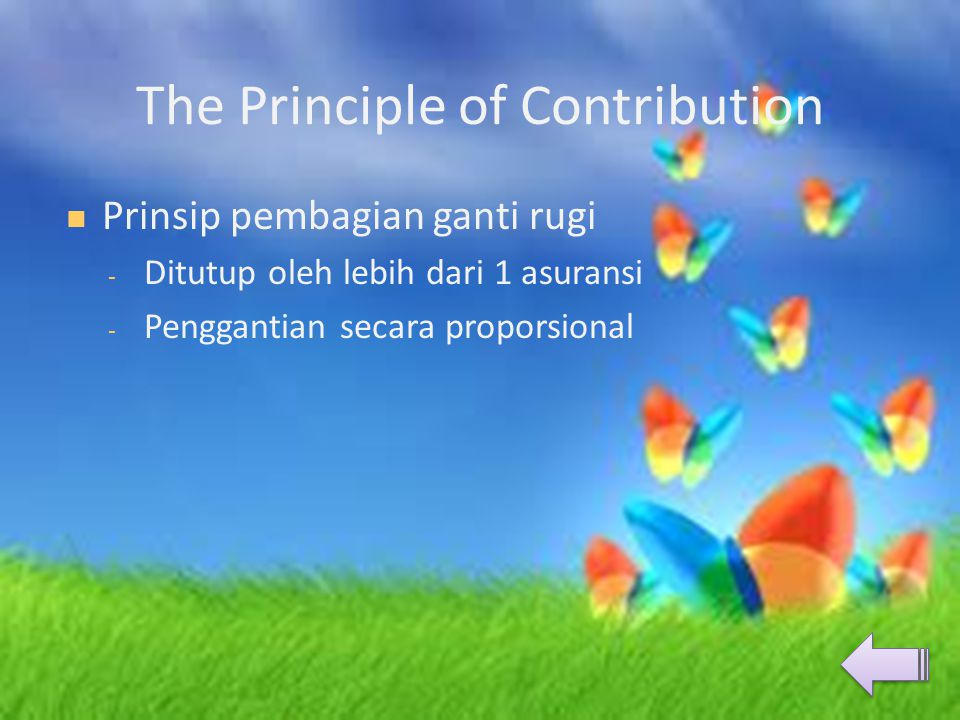 The Principle of Contribution
