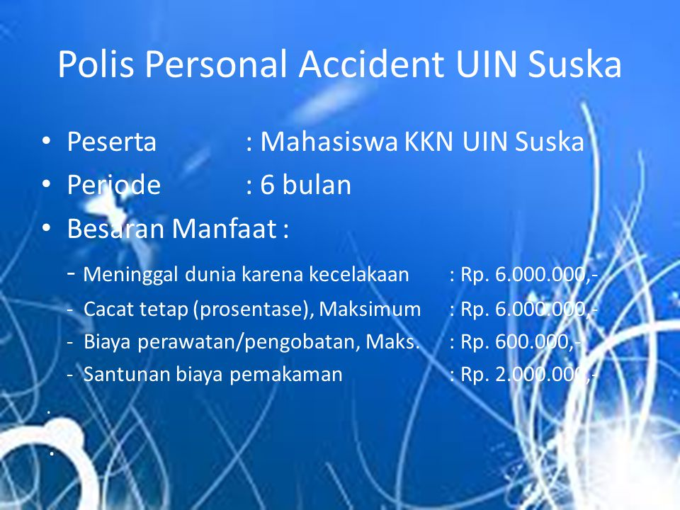 Polis Personal Accident UIN Suska