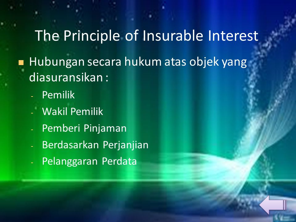 The Principle of Insurable Interest