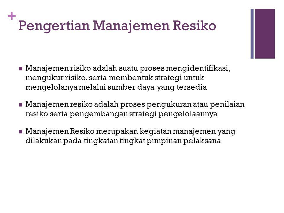 Pengertian Manajemen Resiko