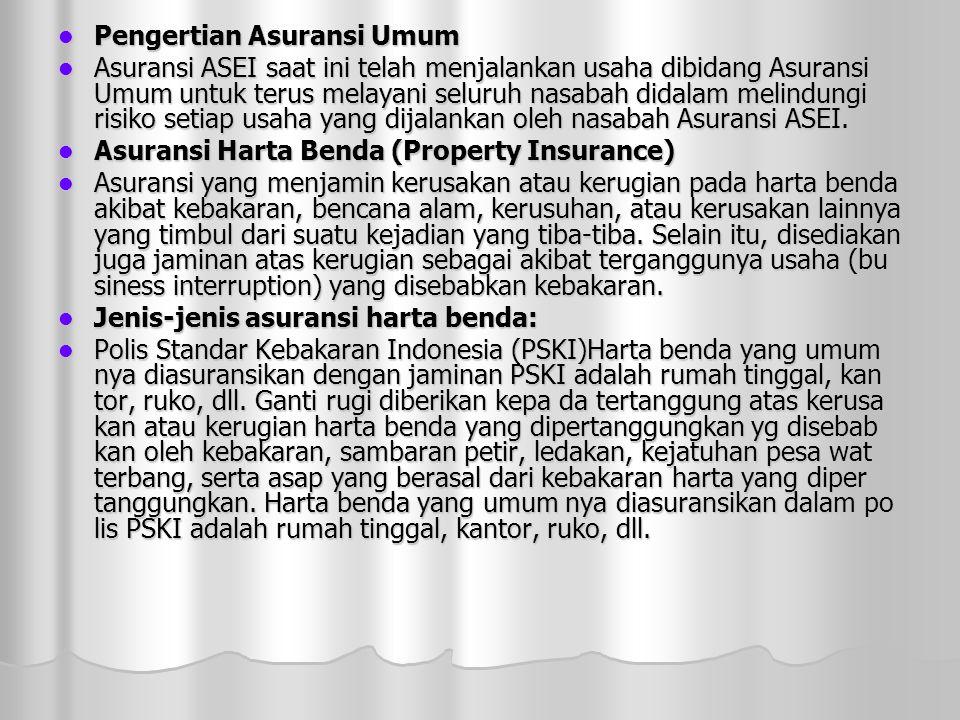 Pengertian Asuransi Umum