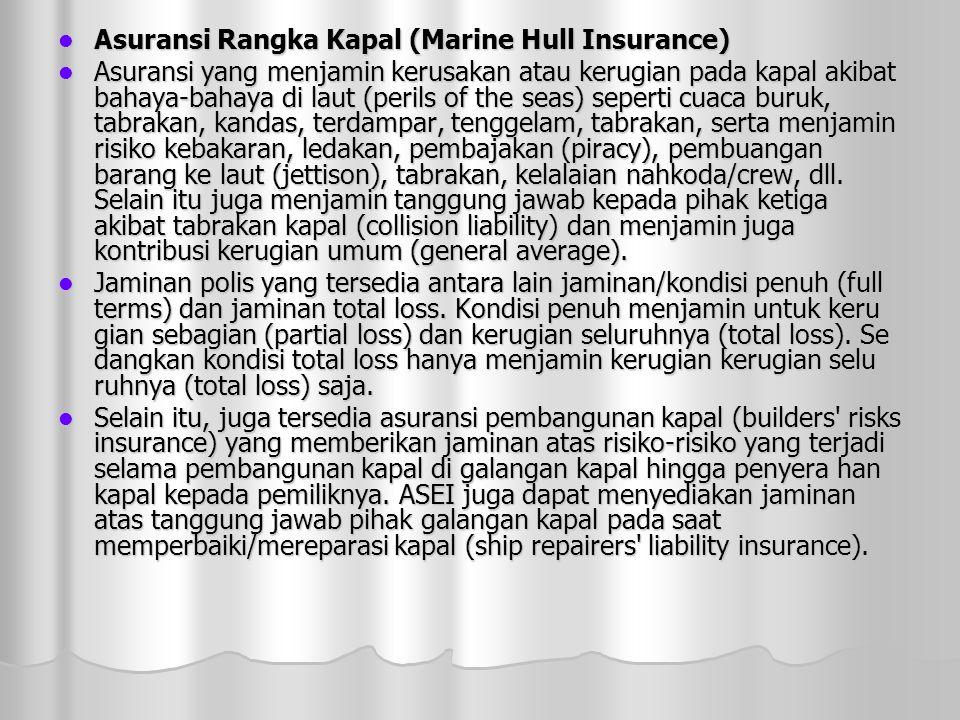 Asuransi Rangka Kapal (Marine Hull Insurance)