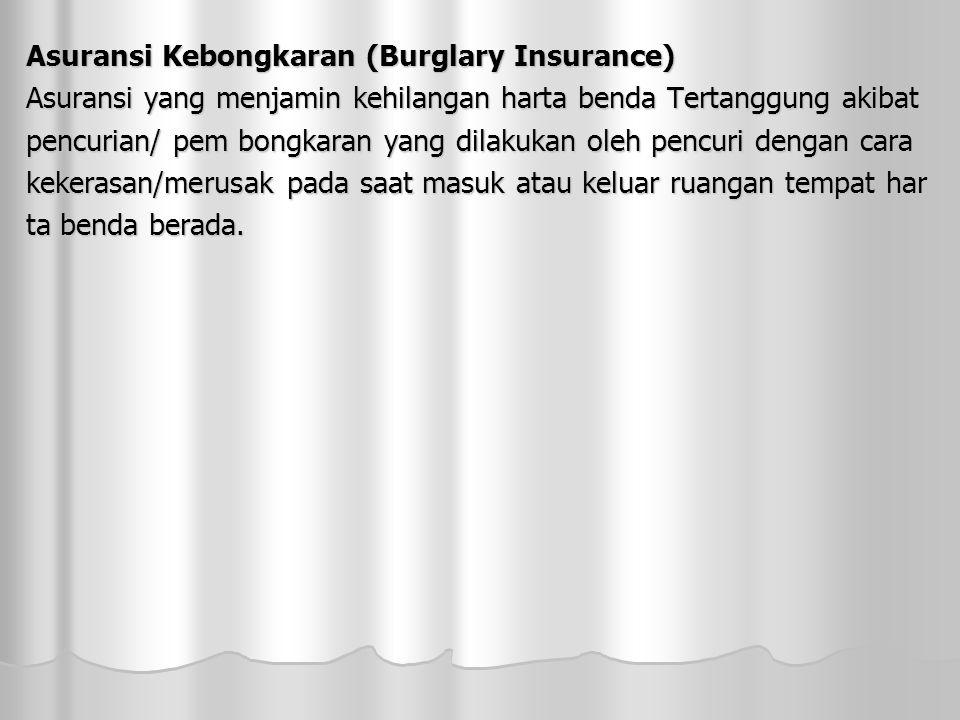 Asuransi Kebongkaran (Burglary Insurance)