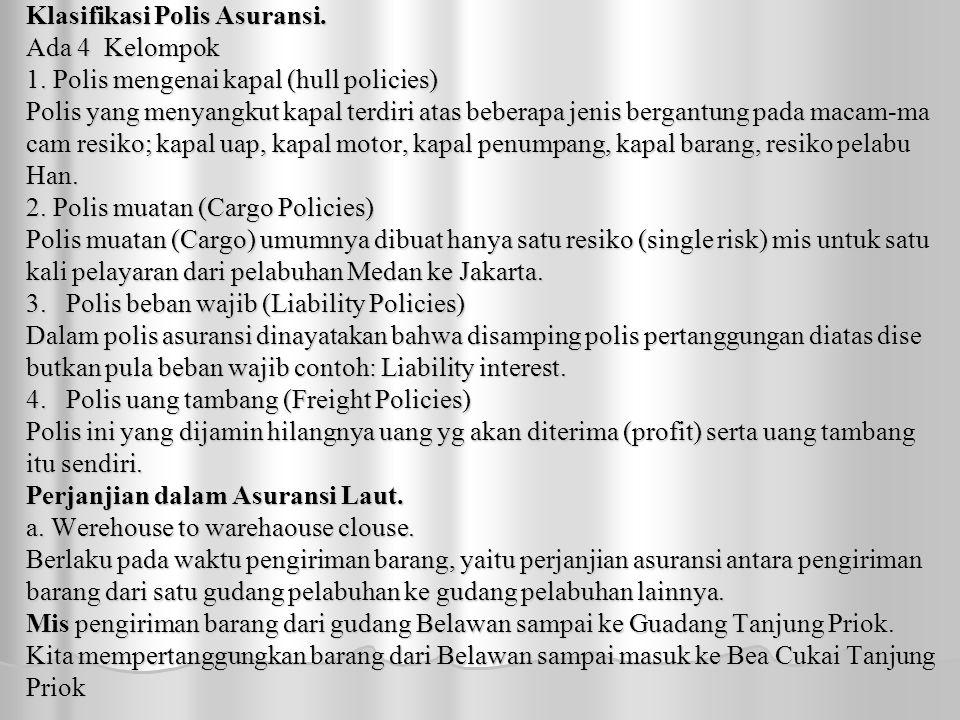 Klasifikasi Polis Asuransi.