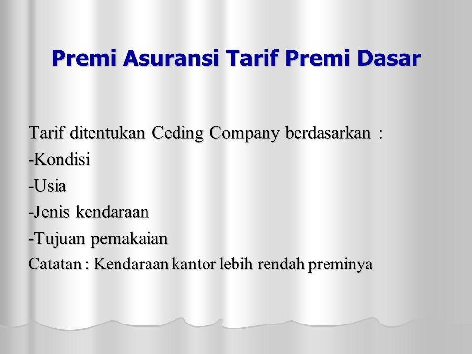 Premi Asuransi Tarif Premi Dasar