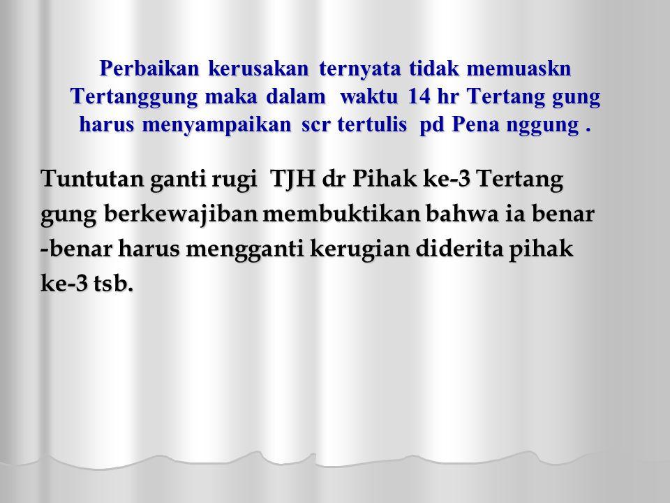 Tuntutan ganti rugi TJH dr Pihak ke-3 Tertang