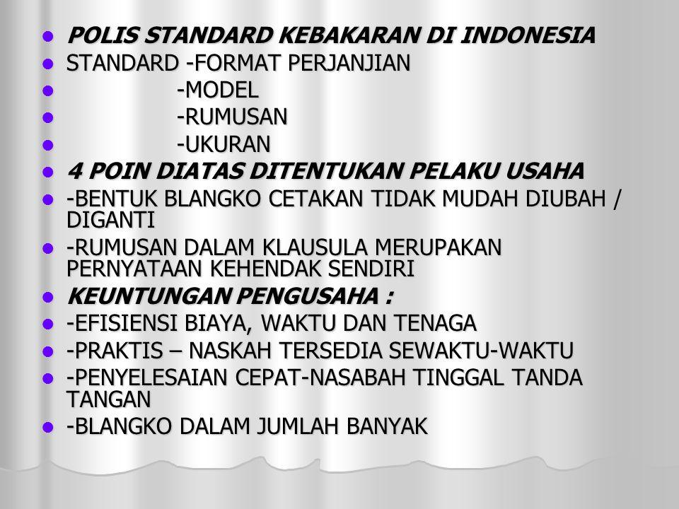 POLIS STANDARD KEBAKARAN DI INDONESIA