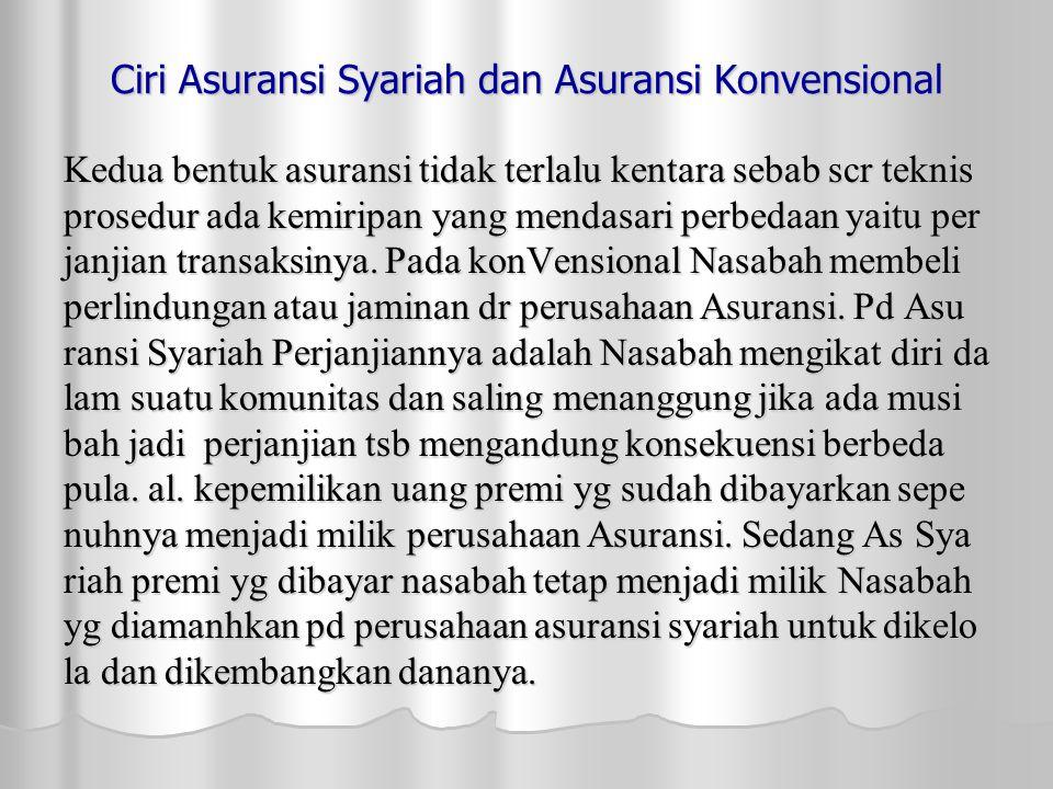 Ciri Asuransi Syariah dan Asuransi Konvensional