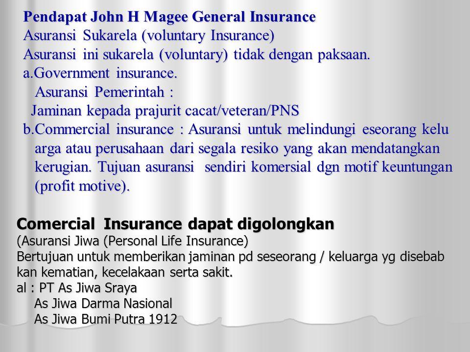 Comercial Insurance dapat digolongkan