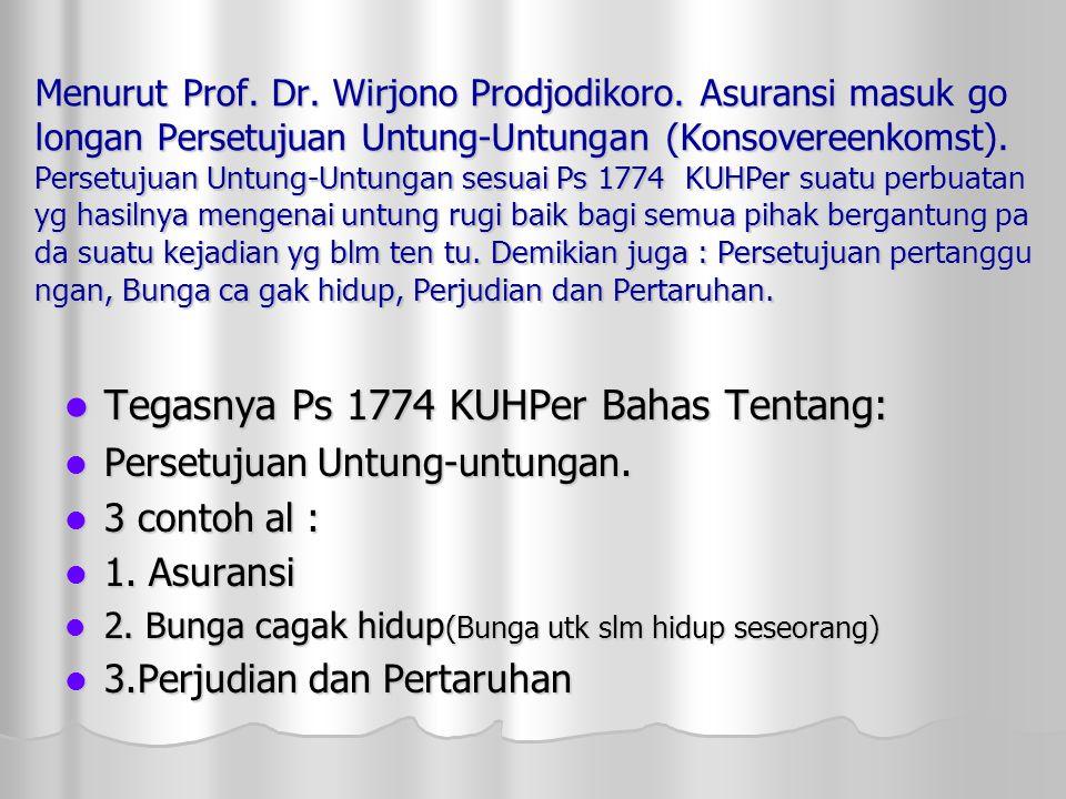 Tegasnya Ps 1774 KUHPer Bahas Tentang: