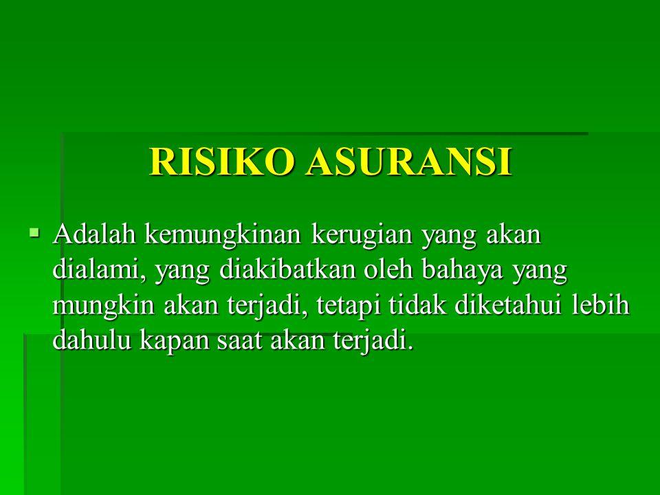 RISIKO ASURANSI
