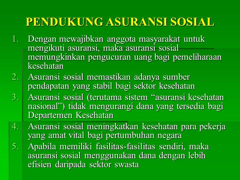 PENDUKUNG ASURANSI SOSIAL