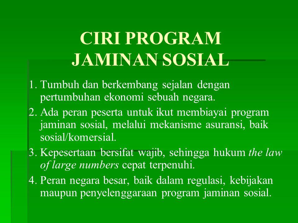 CIRI PROGRAM JAMINAN SOSIAL
