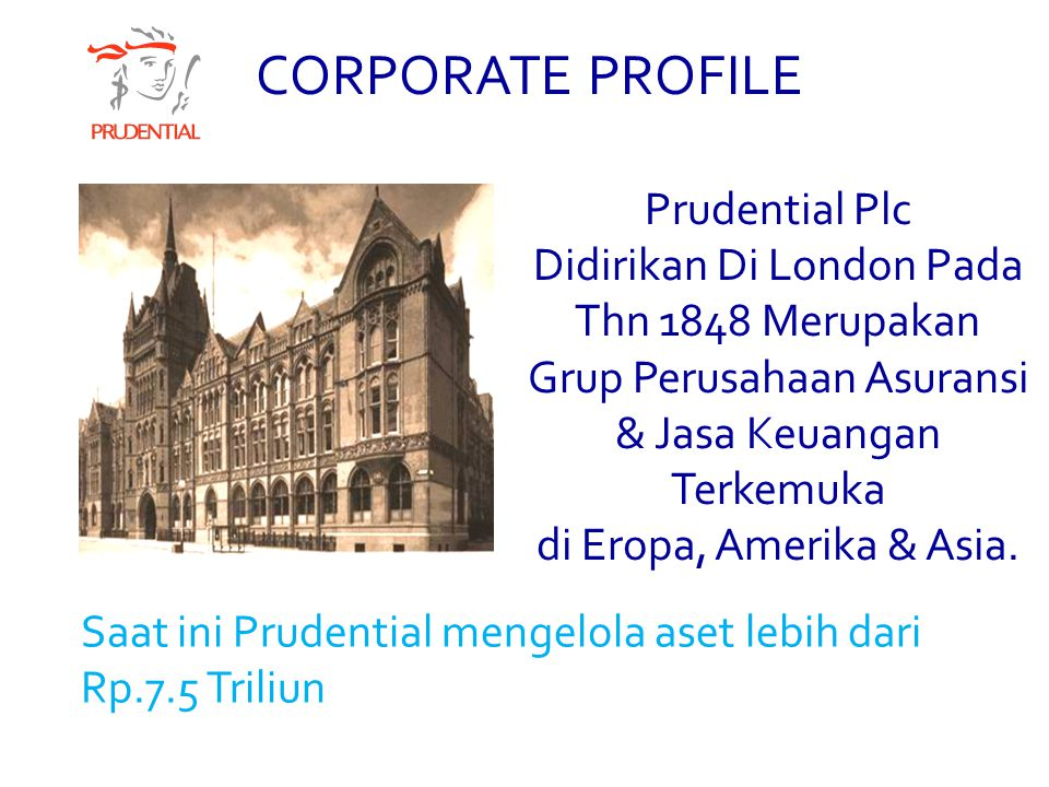 CORPORATE PROFILE Prudential Plc