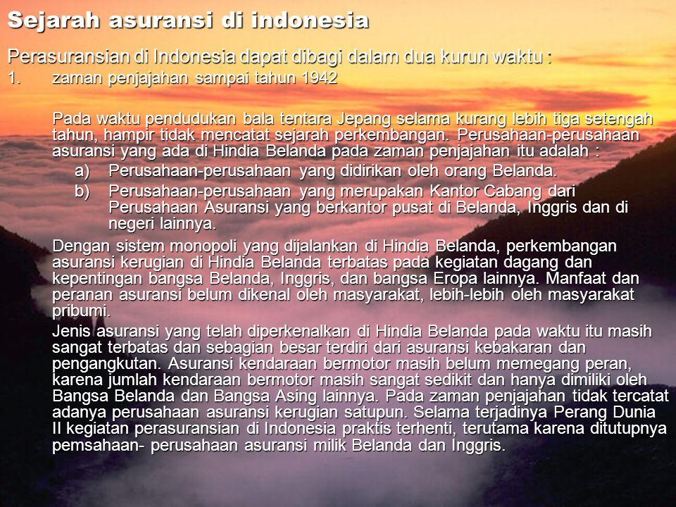 Sejarah asuransi di indonesia