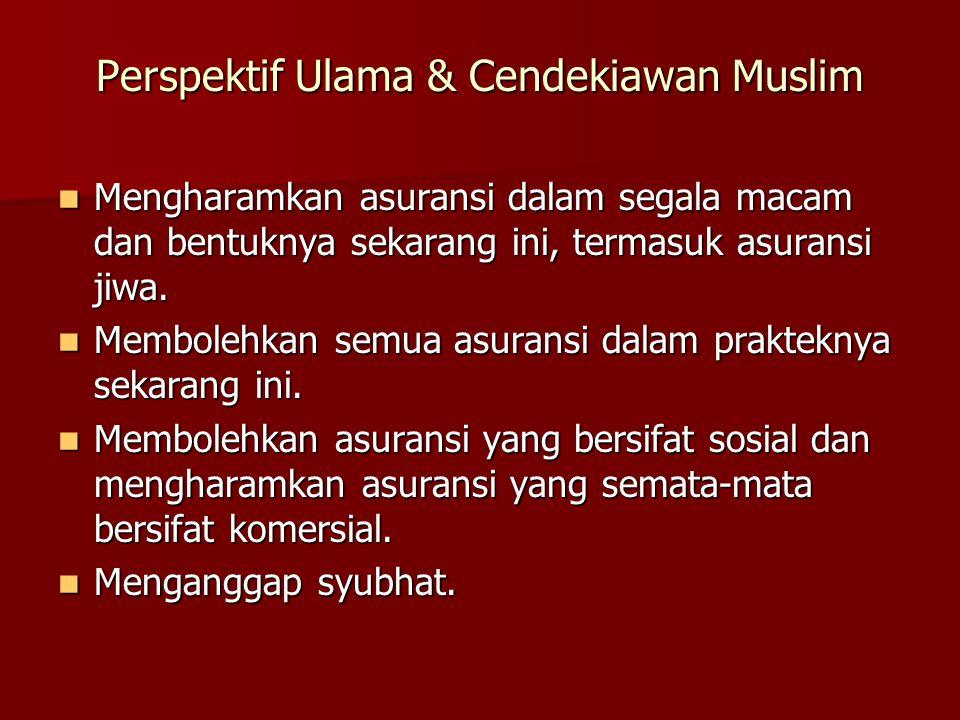 Perspektif Ulama & Cendekiawan Muslim