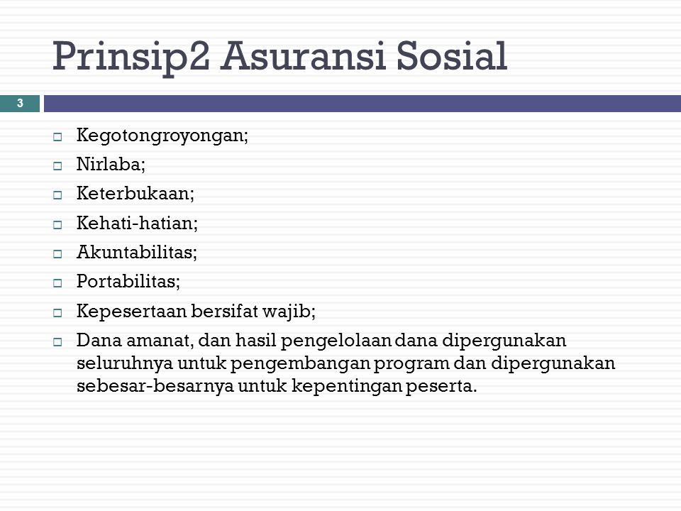 Prinsip2 Asuransi Sosial