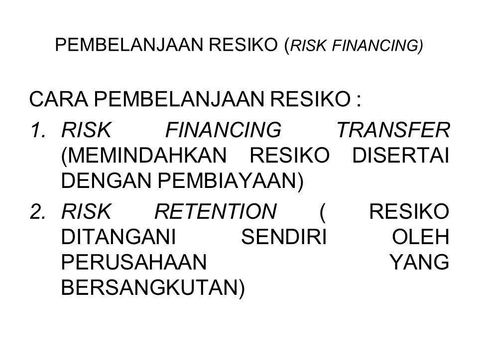 PEMBELANJAAN RESIKO (RISK FINANCING)