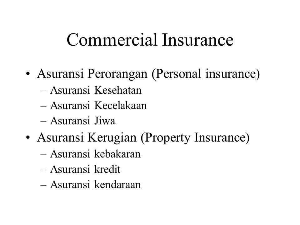 Commercial Insurance Asuransi Perorangan (Personal insurance)