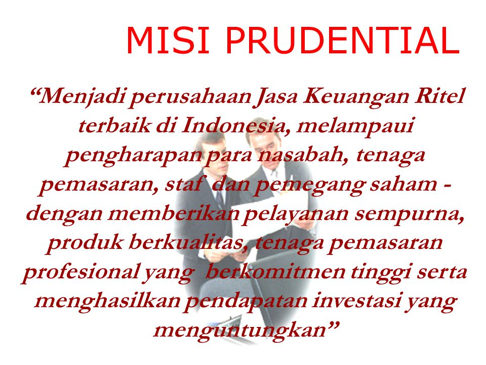 MISI PRUDENTIAL