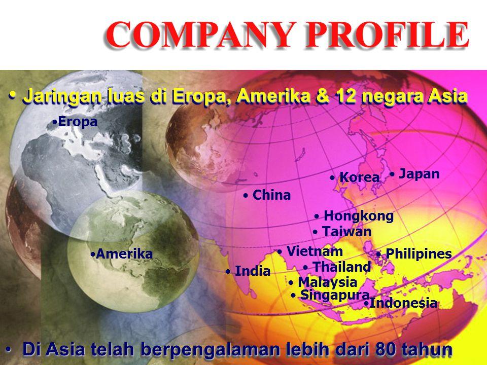 Jaringan luas di Eropa, Amerika & 12 negara Asia