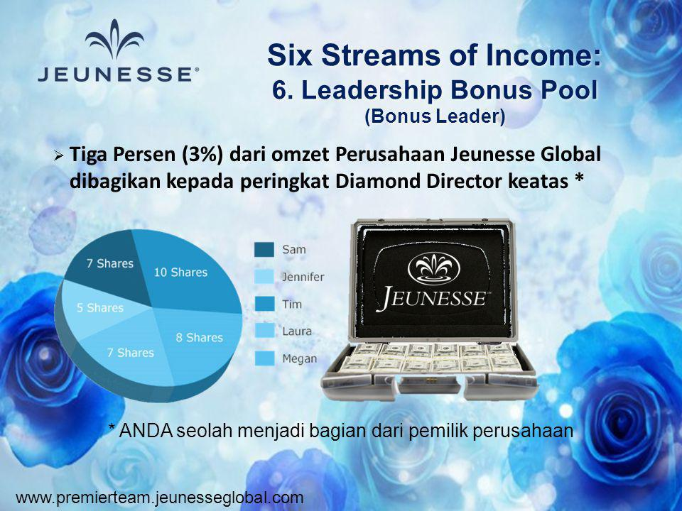 Six Streams of Income: 6. Leadership Bonus Pool